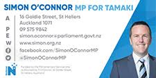 Simon O'Connor MP for Tamaki